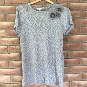 J. Crew short sleeved tee-gray size XL